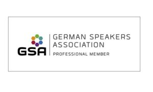 Logo der German Speaker Association (Professional Member)